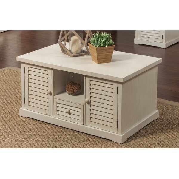 Saver Floor Shelf Coffee Table With Storage By August Grove