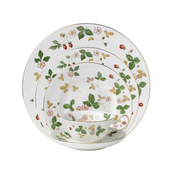 Wild Strawberry 5 Piece Place Setting, Service for 1 by Wedgwood