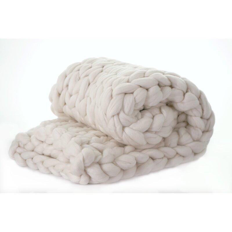 Brezza Chunky Knit Merino Wool Throw