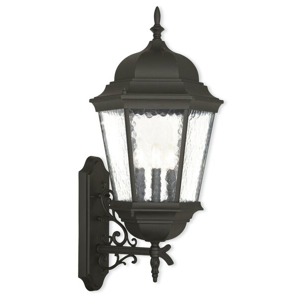 Weisberg 3-Light Outdoor Wall Lantern by Charlton Home