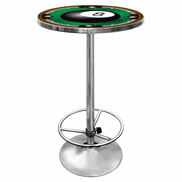8-Ball Pub Table with Foot Rest by Trademark Global