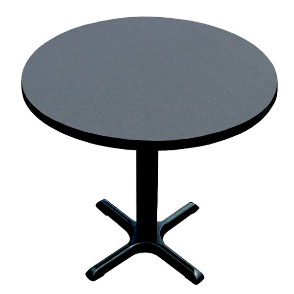 High Round Bar and Café Table with X Base and Column by Correll, Inc.