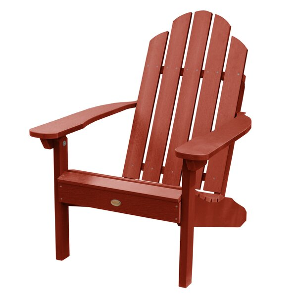 Detwiler Plastic Adirondack Chair by Breakwater Bay