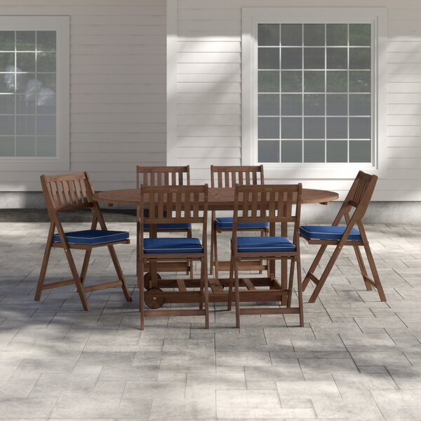Moana 7 Piece Dining Set with Cushion by Beachcrest Home