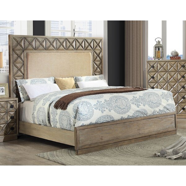 Pinnix Upholstered Standard Bed with Mattress by Bloomsbury Market