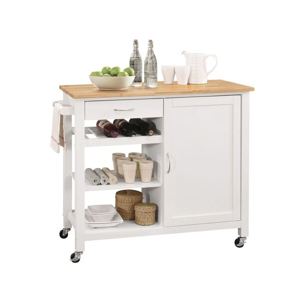 Farmer Kitchen Cart by Charlton Home