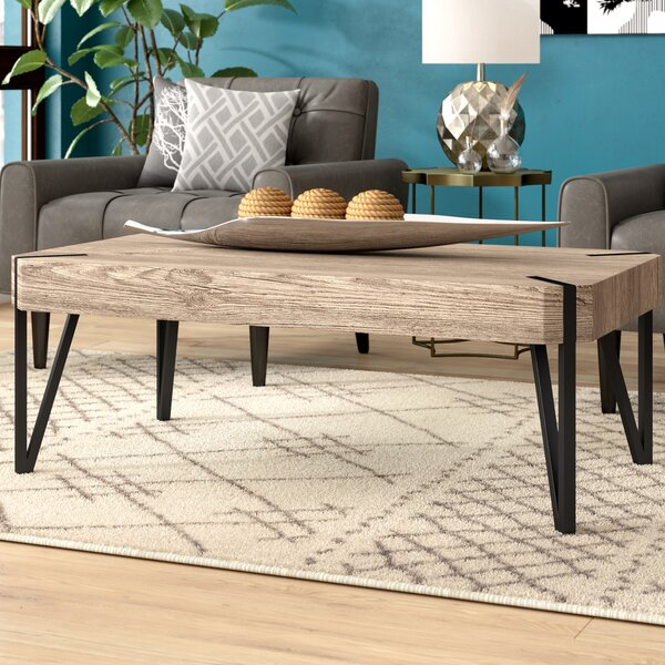 Ricarda Wood Top Coffee Table by Ivy Bronx
