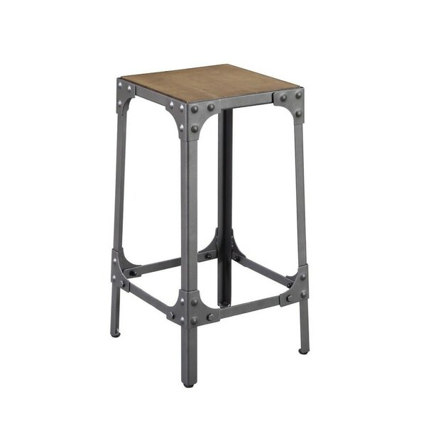 Henning Wood and Metal 24 Bar Stool (Set of 2) by Williston Forge