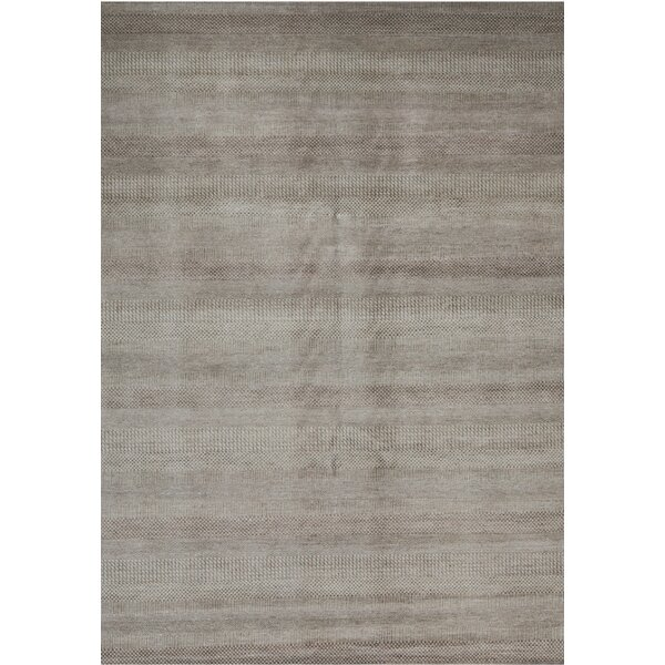 Hand-Knotted 8.1' x 10.2' Natural/Brown Area Rug