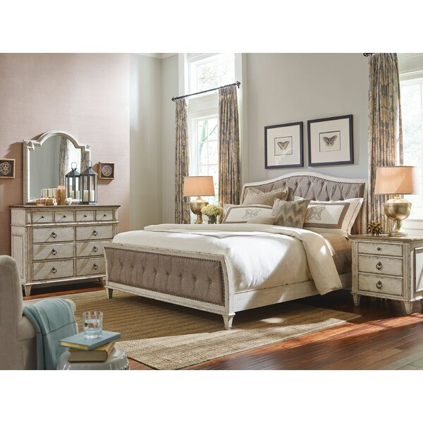 Bailes Upholstered Sleigh Bed by Ophelia & Co.