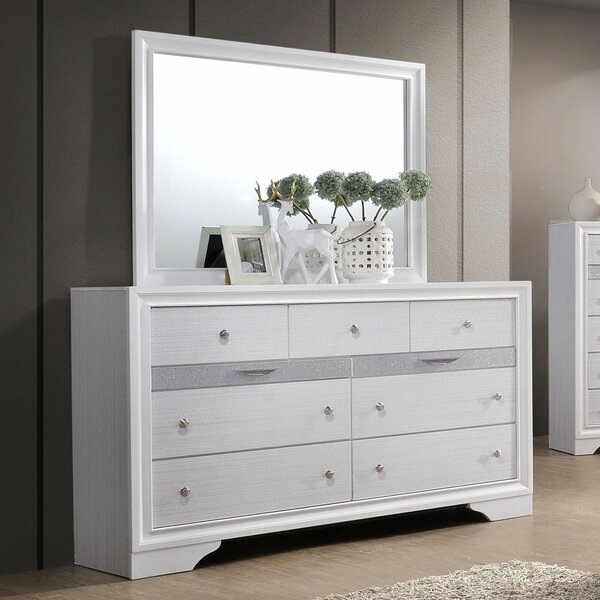 Embree 9 Drawer Dresser with Mirror by Mercer41