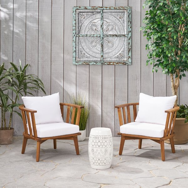 Reinhart Outdoor 3 Piece Seating Group with Cushions by Highland Dunes