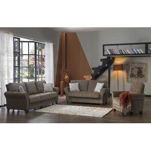 Corto 3 Piece Sleeper Living Room Set by Red Barrel Studio®