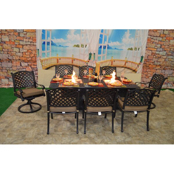Wes 9 Piece Dining Set with Cushions