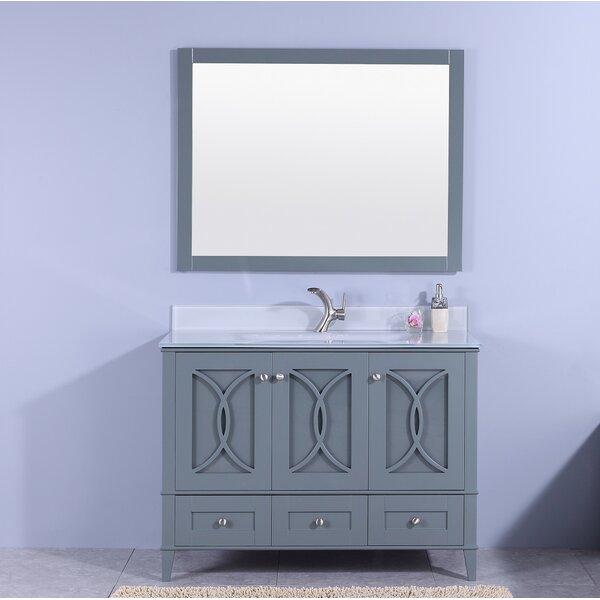Filmore 48 Single Bathroom Vanity with Mirror by House of Hampton
