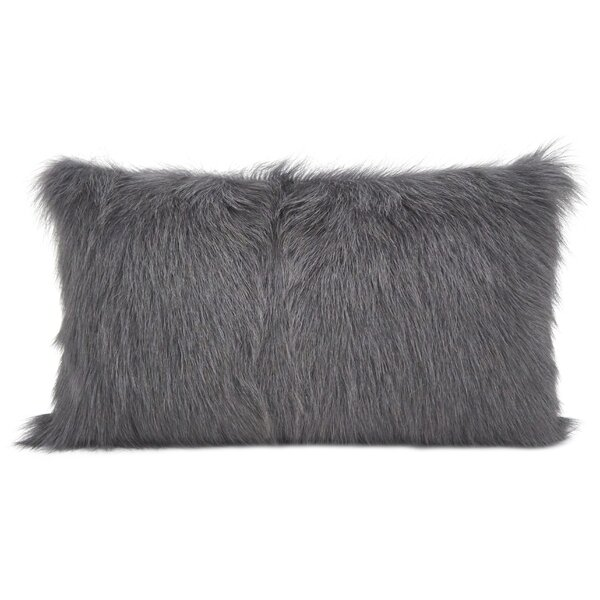 Oquinn Goat Fur Lumbar Pillow by Union Rustic