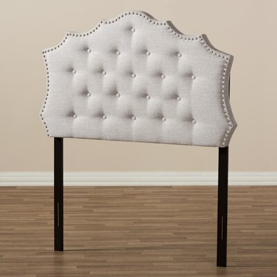 Houghton Upholstered Panel Headboard Size: Queen, Color: Grayish Beige