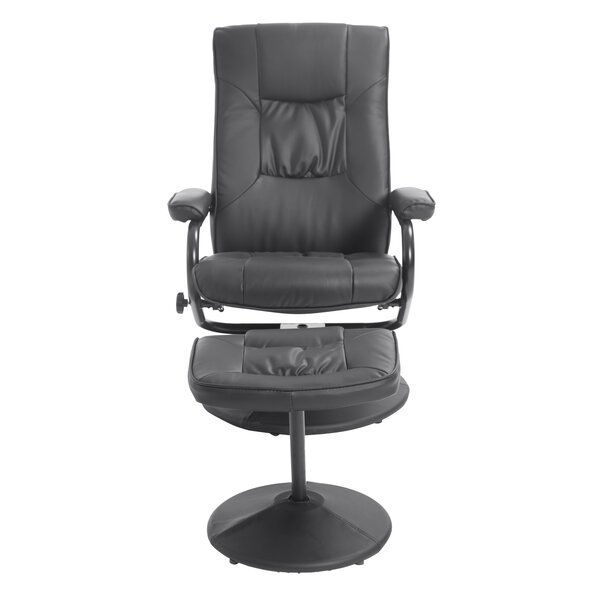 Manual Swivel Recliner With Ottoman by HomCom