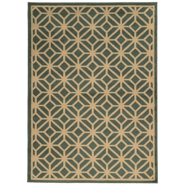 Halloran Light Blue/Beige Area Rug by Wrought Studio