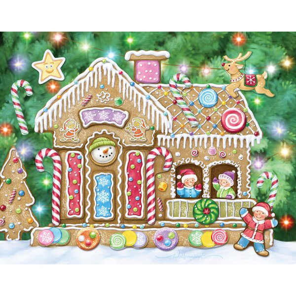 Gingerbread House Sticker Advent Calendar by The Holiday Aisle