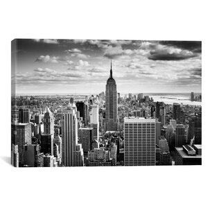 'New York City Downtown' Canvas Wall Art Photographic Print on Wrapped Canvas by Zipcode Design