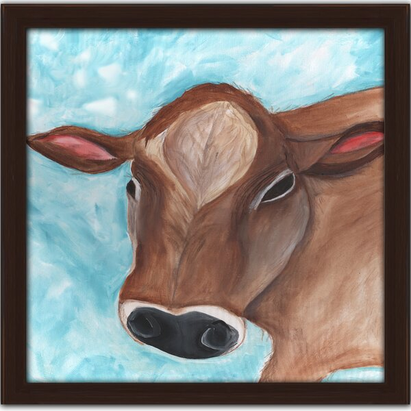 Colby Cow Framed Art by Doodlefish