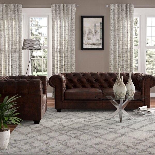 Trent Austin Design Harlem 2 Piece Leather Living Room Set
