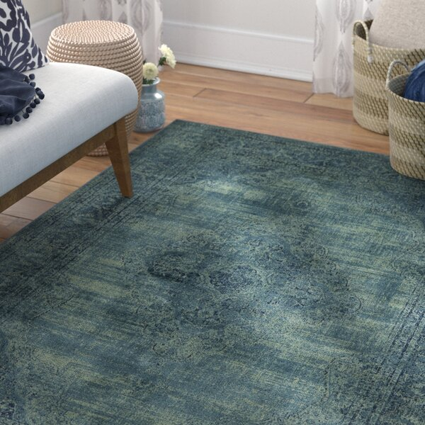 Makenna Turquoise Area Rug by Mistana