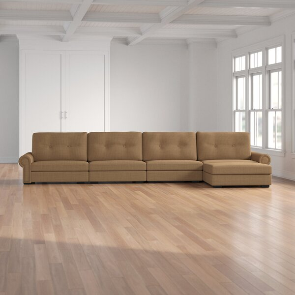 Willia Buttoned Modular Sectional By Three Posts