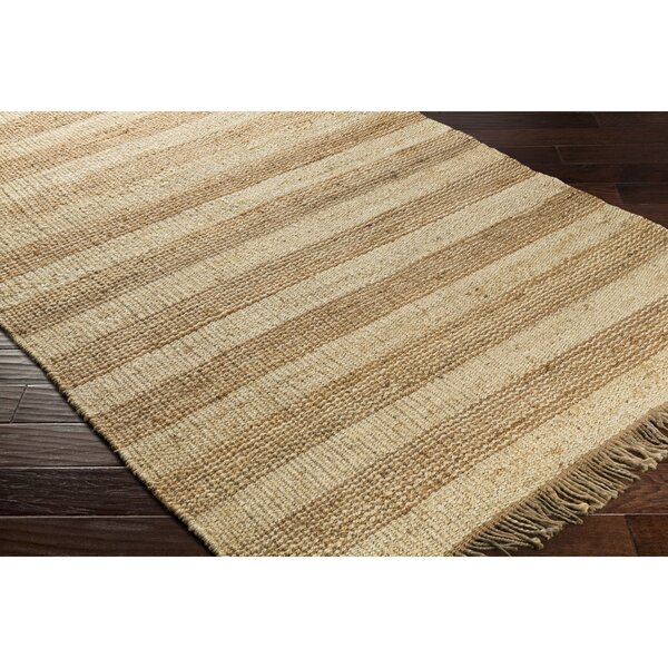 Boughner Hand-Woven Brown/Neutral Area Rug by Three Posts