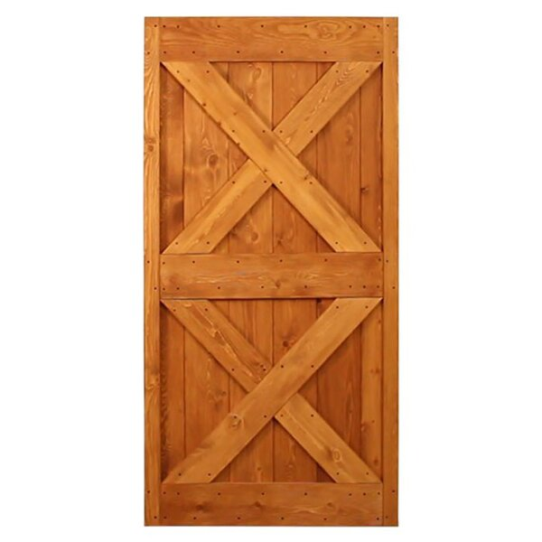 Ponderosa 2 Panel Pine Wood Unfinished Interior Barn Door by Quiet Glide