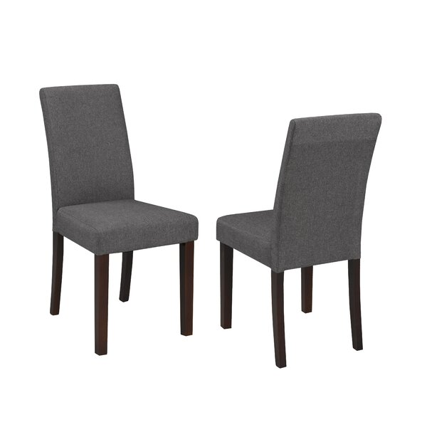 Schreiber Upholstered Dining Chair (Set of 2) by Charlton Home