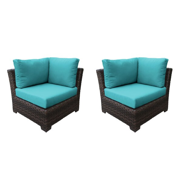 kathy Ireland Homes & Gardens River Brook Patio Chair with Cushions (Set of 2) by kathy ireland Homes & Gardens by TK Classics