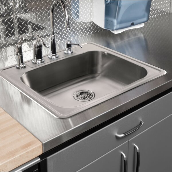 33 L x 22 W Drop-In Kitchen Sink by Cahaba