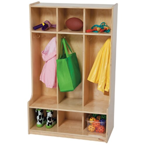 Contender 3 Wide Kids Locker by Wood Designs