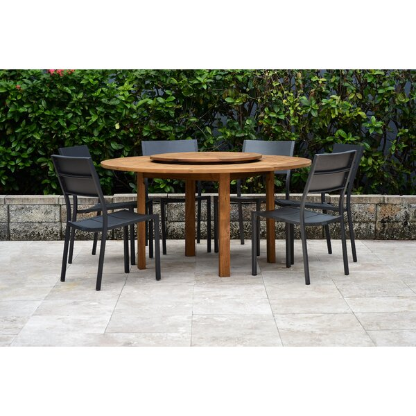 Dimitri 7 Piece Teak Dining Set by Bayou Breeze