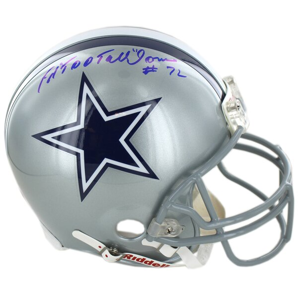 Decorative Dallas Cowboys Ed Too Tall Jones Signed Authentic Helmet by Steiner Sports