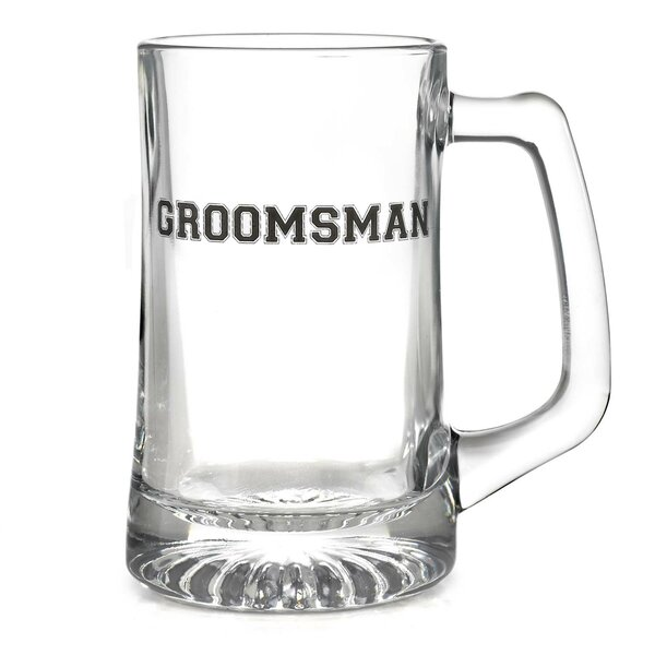 Groomsman 15 oz. Glass Mugs by The Holiday Aisle