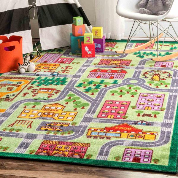 Rhoda Kids Map City Area Rug