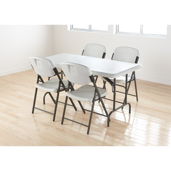 Economy Folding Chair in Platinum (Pack of 4) by Iceberg Enterprises