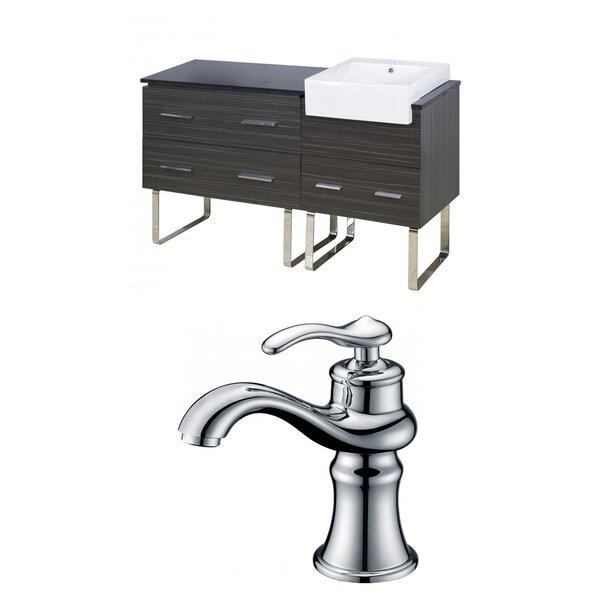 Mulberry Floor Mount 61 Single Bathroom Vanity Set by Royal Purple Bath Kitchen