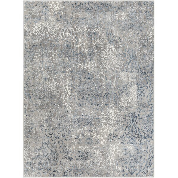 Winchester Distressed Navy/Denim Area Rug by Williston Forge