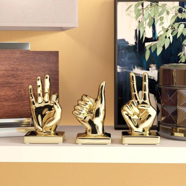 Caban Modern Hand Sign 3 Piece Figurine Set by Ivy Bronx