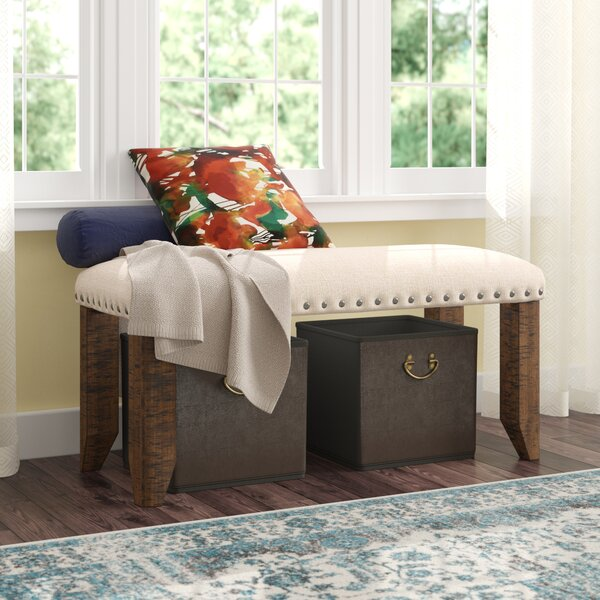 Ismay Upholstered Bench by Three Posts