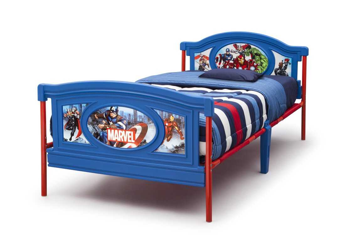 Dulux Avengers Bedroom In A Box: Delta Children Avengers Twin Panel Bed & Reviews