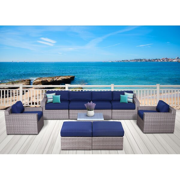 Campa Olefin 9 Piece Conversation Set with Cushions by Longshore Tides