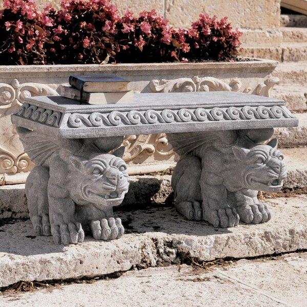 Blair Castle Gargoyle Stone Garden Bench by Design Toscano Design Toscano
