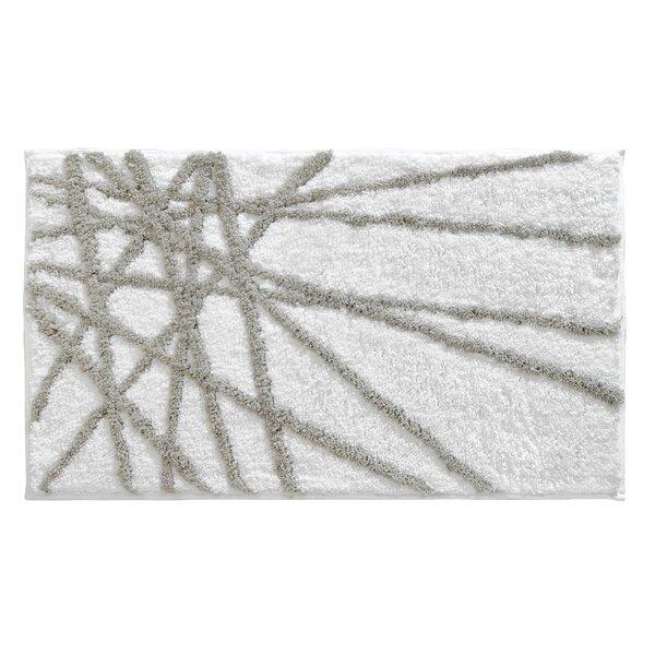 Jerimiah Rectangle Non-Slip Striped Bath Rug