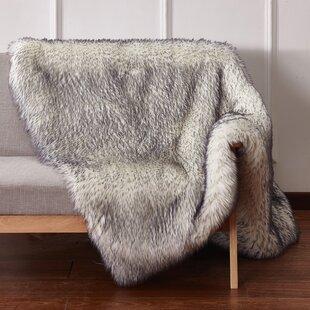Clowers Luxury Tip Dye Faux Fur Throw