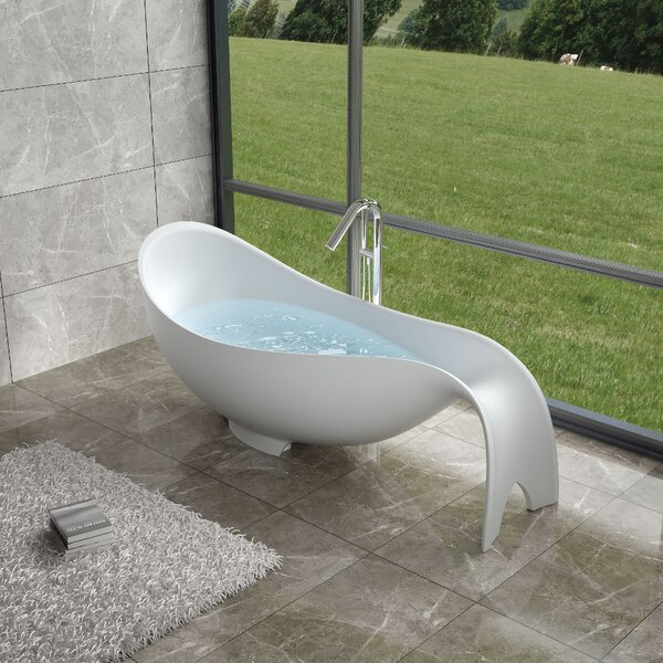 81 x 81 Freestanding Soaking Bathtub by InFurniture
